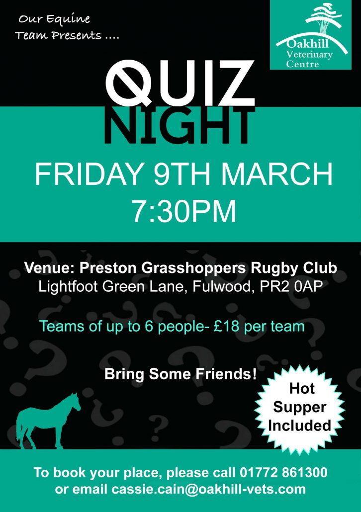 equine quiz night NEW