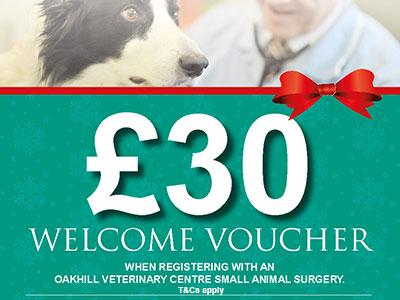 £30 welcome voucher - small animal